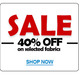 40% OFF Selected Patchwork Fabric
