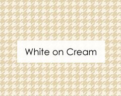 White on Cream Fabrics