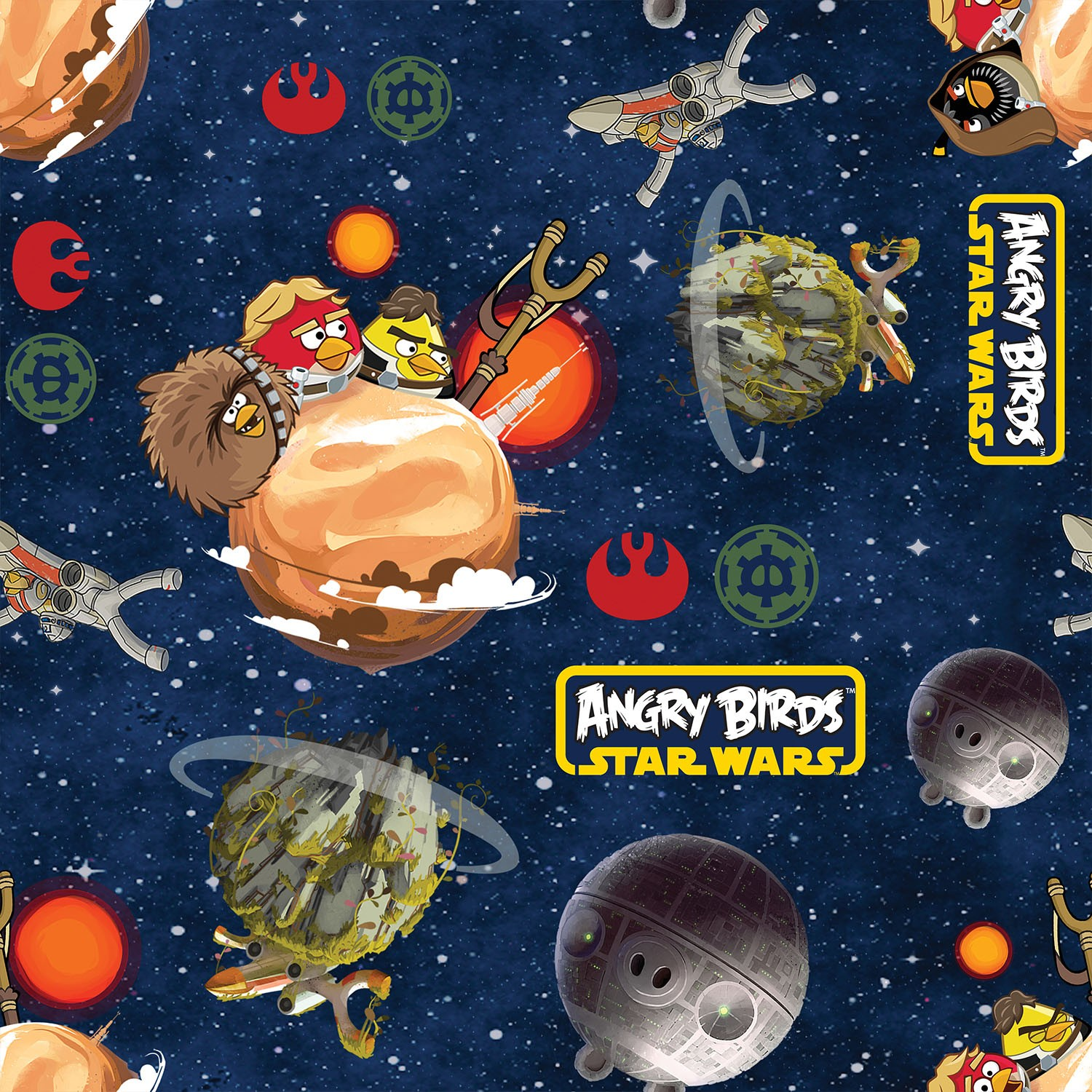 Patchwork fabric childrens angry birds star wars fabric for Space fabric uk