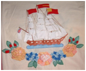 patchwrok quilting boat flowers