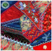 patchwork quilting - crazy patchwork