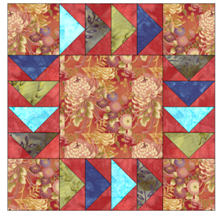 patchwrokd quilting example red