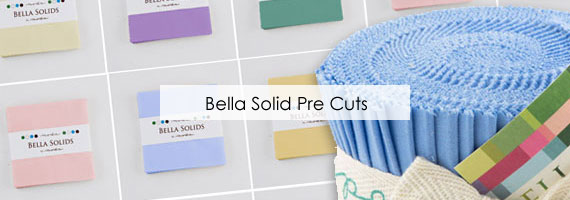 Full Range of Moda Bella Solids Pre Cut Fabric Packs
