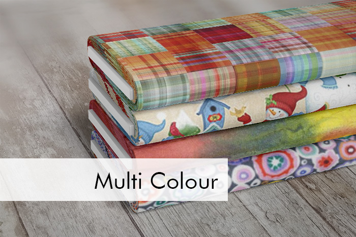 Multi Colour Quilting Fabrics