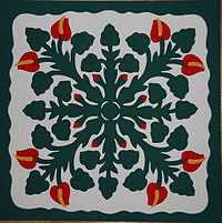 patchwork quilting Hawaiian