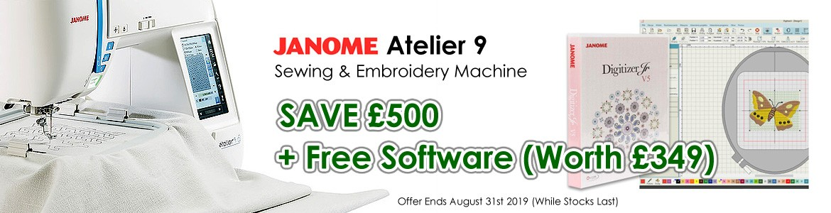 Janome Atelier 9 Offer