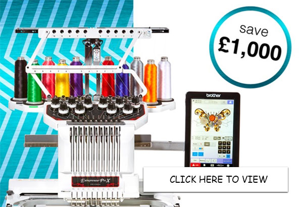 Brother PR1050X Embroidery Machine - Save £1000
