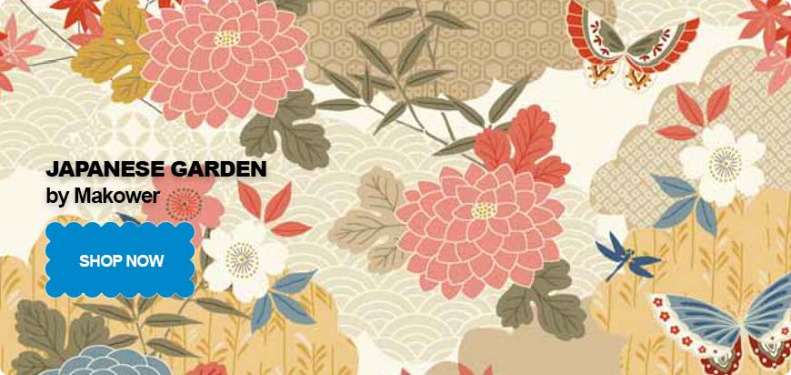 Japanese Garden Makower Fabric Range