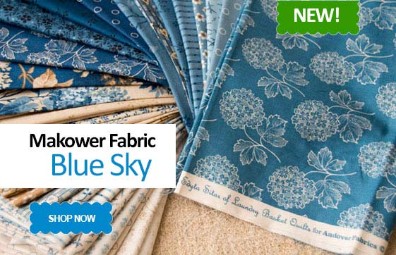Makower Blue Sky Fabric