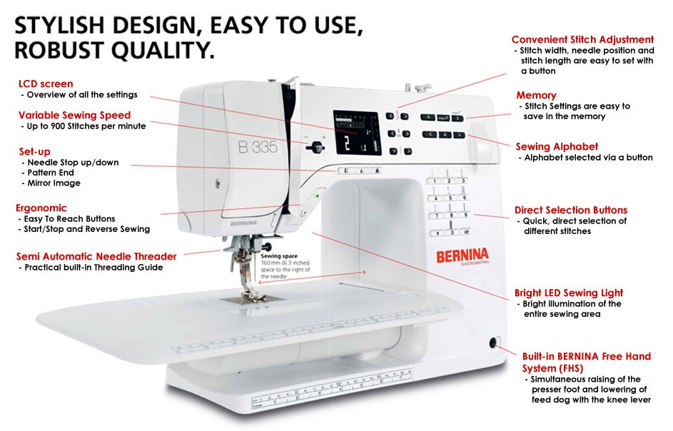 Bernina At A Glance User Guide